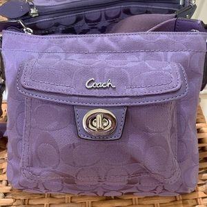 Coach purple cross body bag